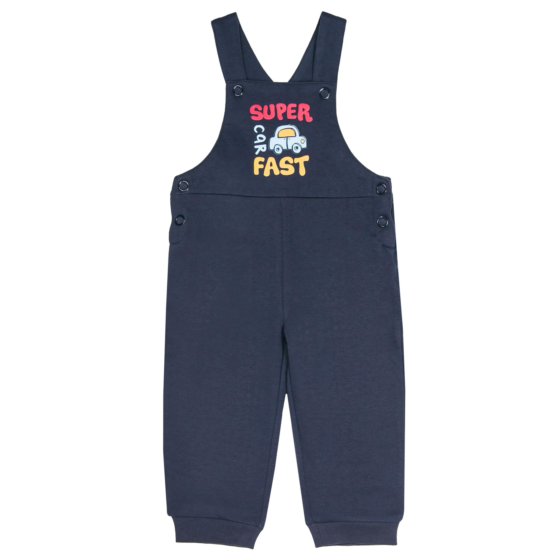 """Купить со скидкой Комплект для мальчика футболка с длинным рукавом и полукомбинезон Barkito """"На обгон! 1"""", с"""