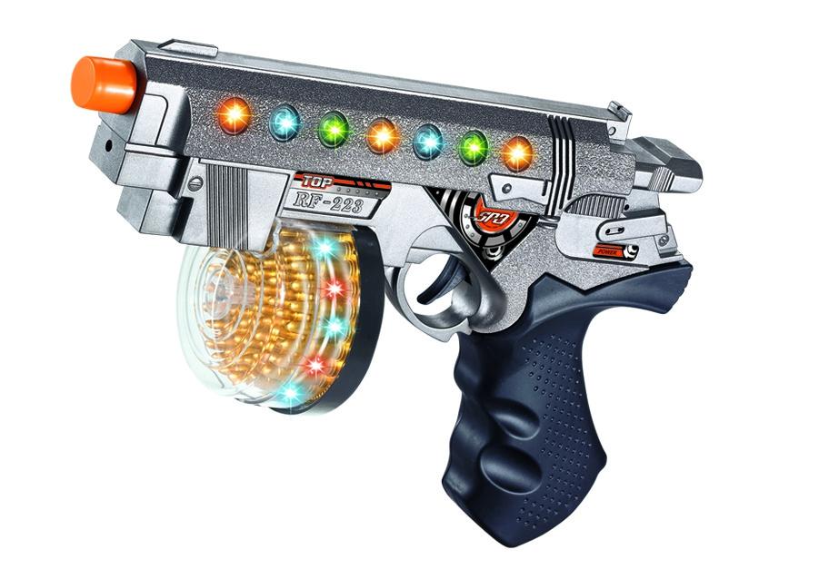 Игрушечное оружие и бластеры ABtoys Пистолет штурмовой со светом звуком