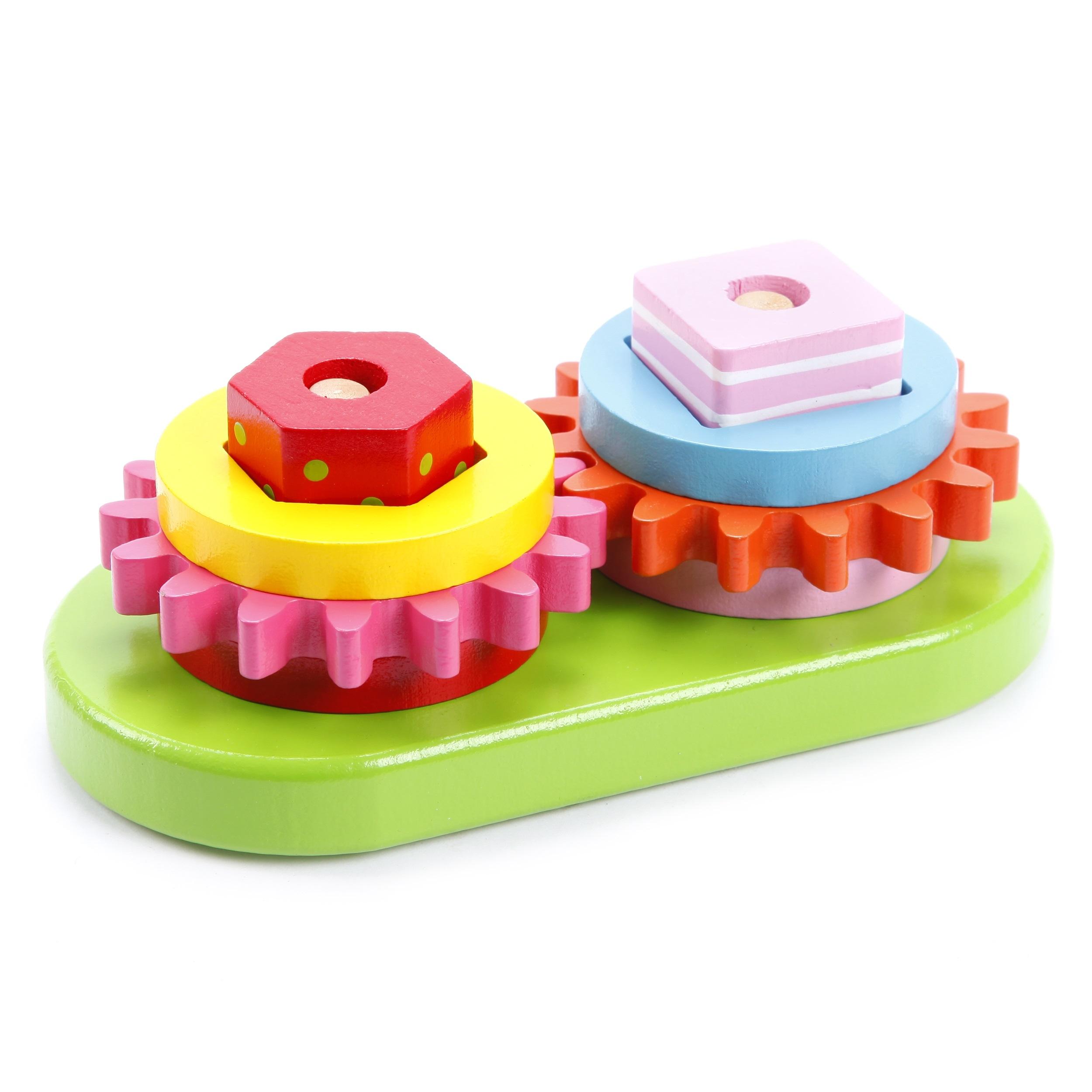 Деревянные игрушки Mapacha Сортер-пирамидка Mapacha «Шестеренки» деревянные игрушки guidecraft сортер rainbow blocks sand