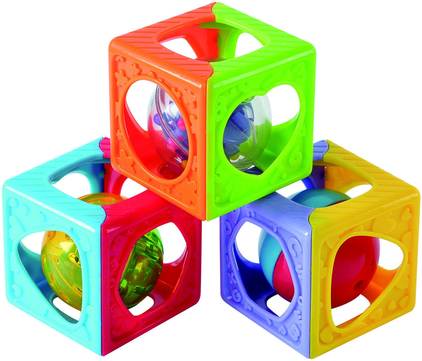 Развивающие игрушки PLAYGO Забавные кубики-погремушка playgo игровой центр развивающие кубики погремушка play 1520