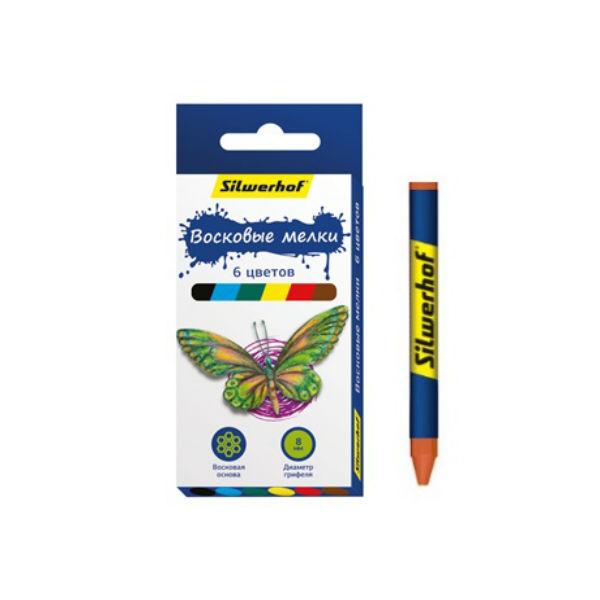 Ручки и карандаши Silwerhof Бабочки 884169-06 карандаши восковые мелки пастель lyra osiris цветные треугольное сечение 6 цветов