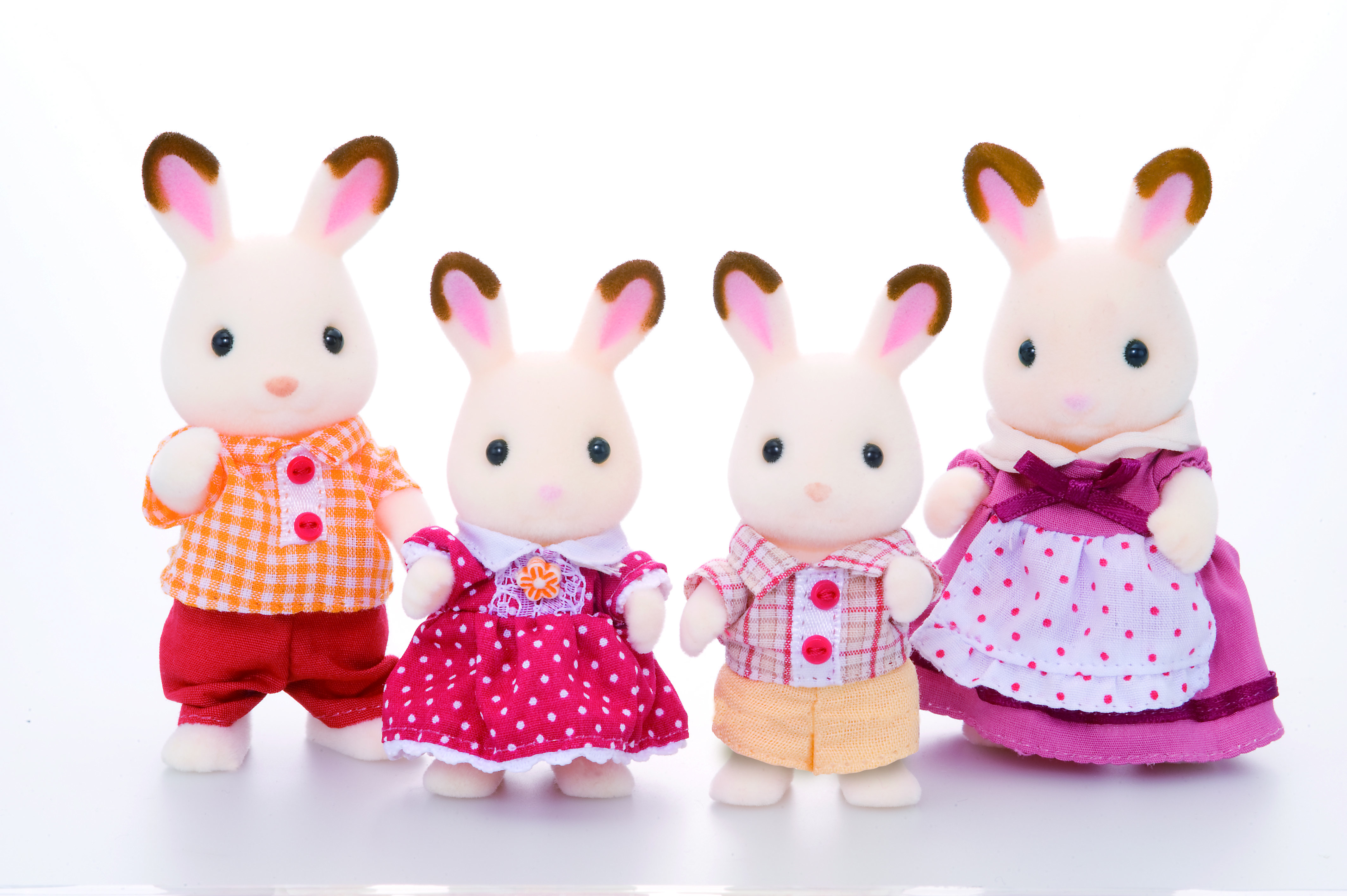 Игровой набор SYLVANIAN FAMILIES Семья Шоколадных Кроликов игровые наборы sylvanian families игровой набор семья шоколадных кроликов