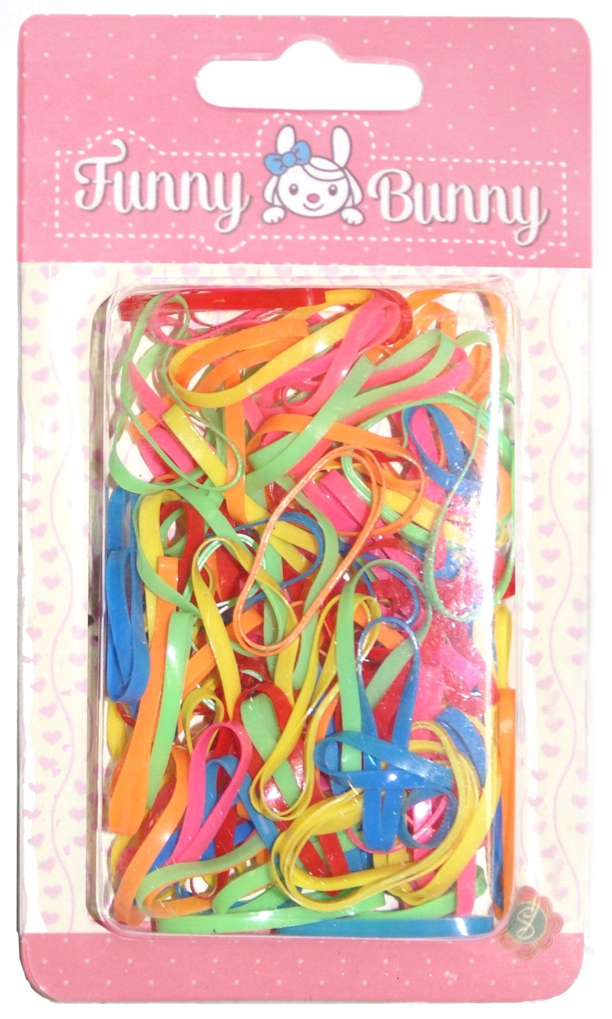 Резинка для волос Funny Bunny силикон 80 шт. невидимка для волос funny bunny розовые цветы 2 шт