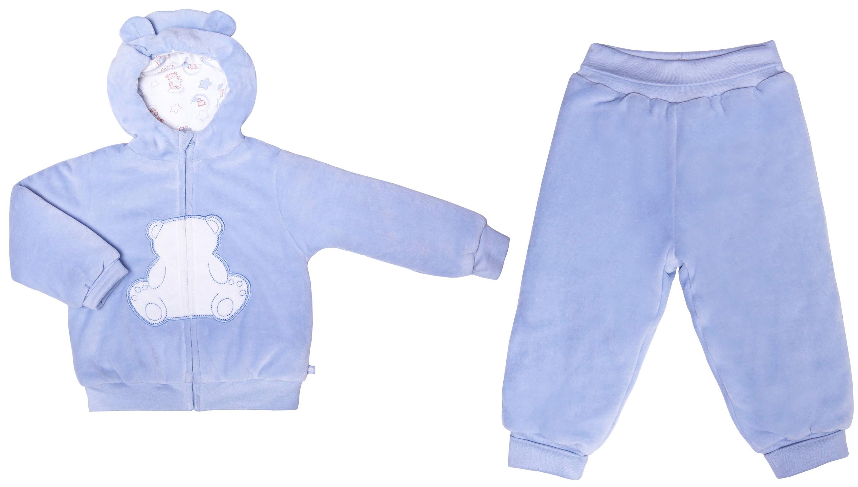 Комплекты утепленные Barkito Комплект жакет, штанишки для мальчика Сладкие сны Barkito голубой комплекты детской одежды cherubino комплект для новорожденных для мальчика 5 предметов