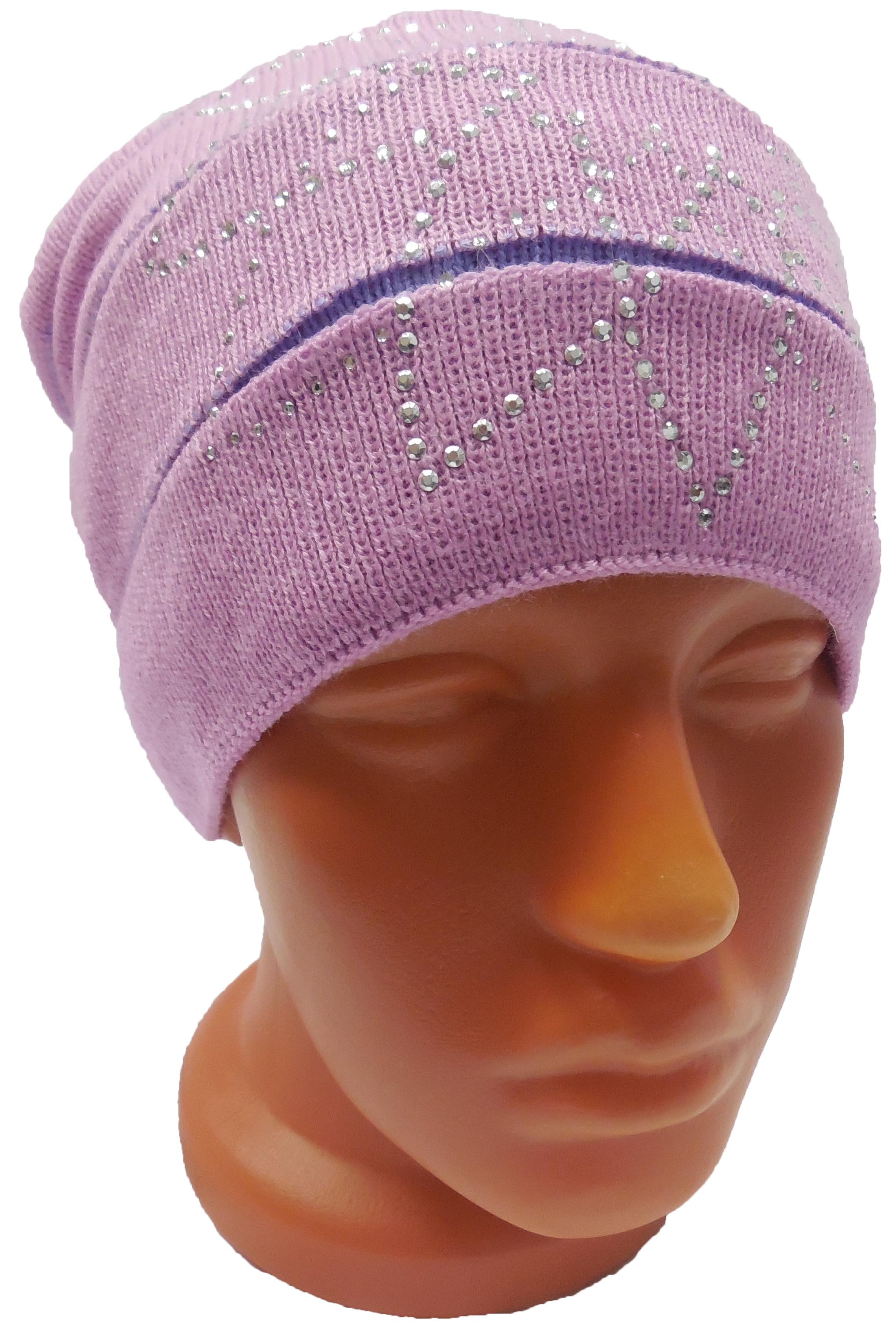 Головные уборы Индиго Шапка для девочки с пумпоном Индиго головные уборы индиго шапка индиго серая