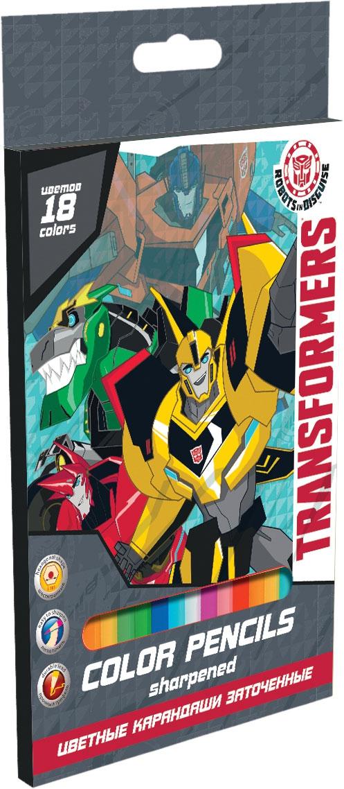 Набор цветных карандашей Transformers Transformers 18 шт ручки и карандаши transformers transformers 12 шт