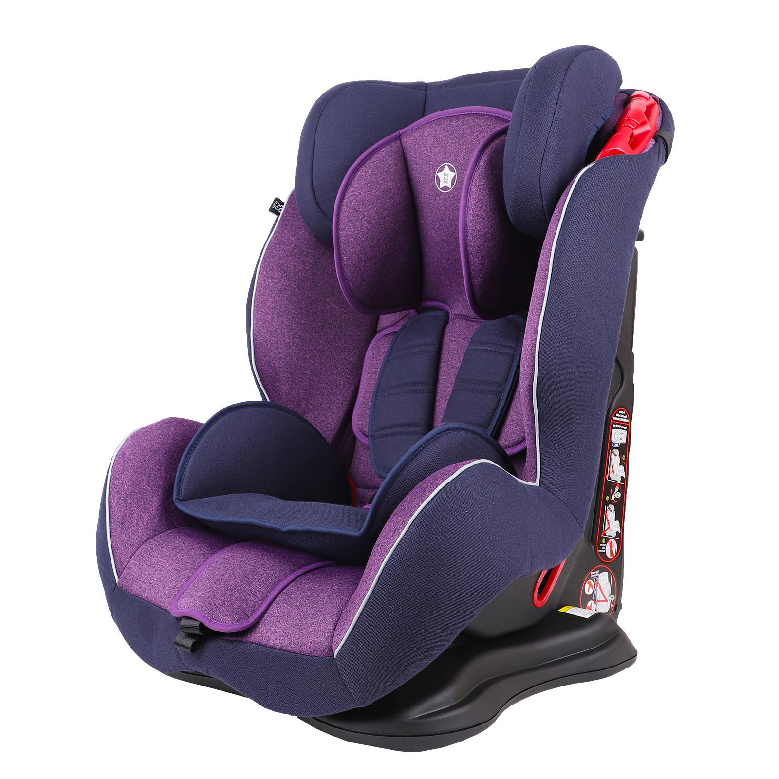 Автокресло Be2Me фиолетовый с синим, группа 1/2/3, 9-36 кг автокресло be2me фиолетовый с синим группа 1 2 3 9 36 кг