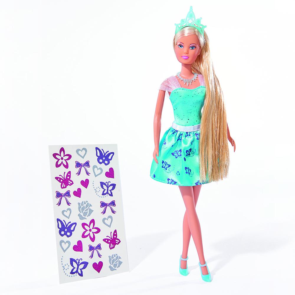 Купить Кукла, Штеффи с наклейками для волос, 1шт., simba 5737106, Китай, Женский
