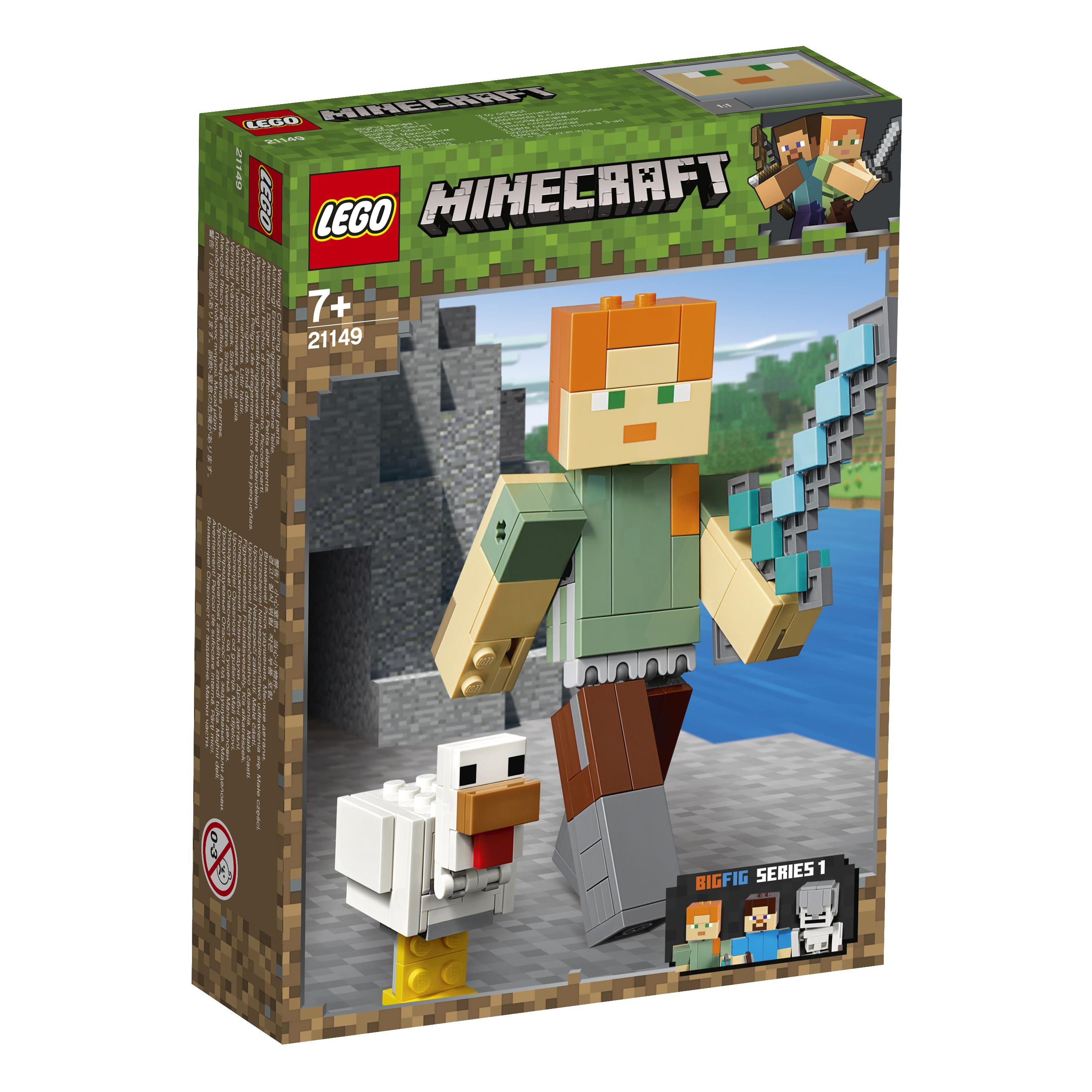 Конструктор L LEGO Minecraft 21149 Большие фигурки Minecraft, Алекс с цыплёнком рюкзак minecraft