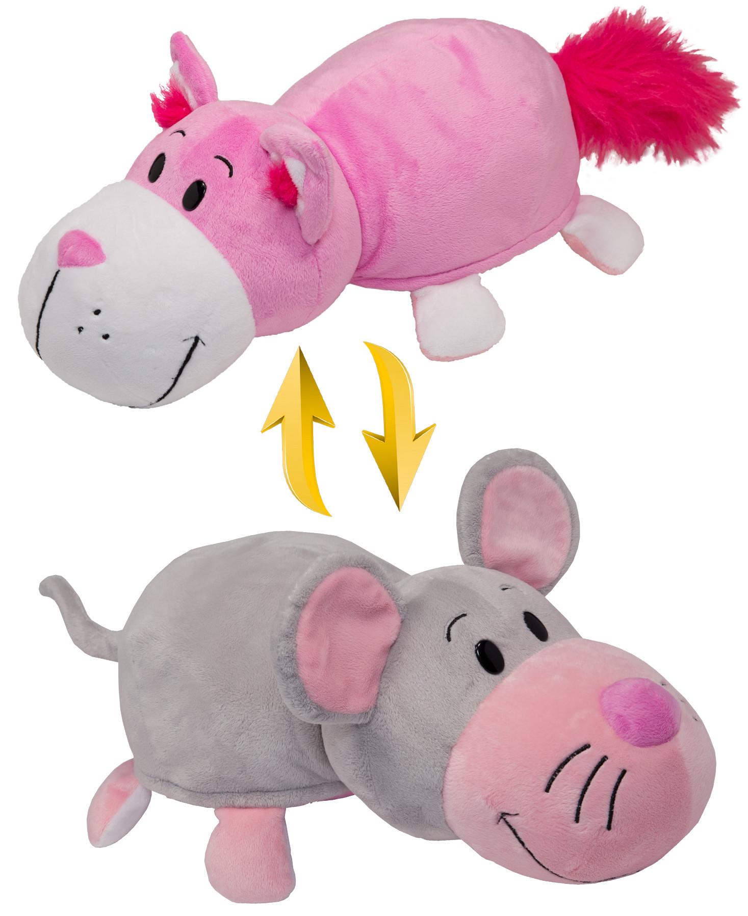 Мягкая игрушка 1toy Вывернушка. Кот-Мышь Т10928 мягкие игрушки 1toy мягкая игрушка 1toy вывернушка 20 см в асс