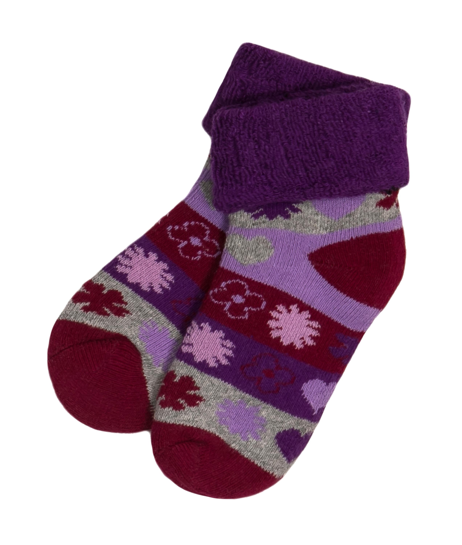 Носки Barkito Носки махровые для девочки Barkito, сиреневые с рисунком ostin махровые носки с новогодним рисунком