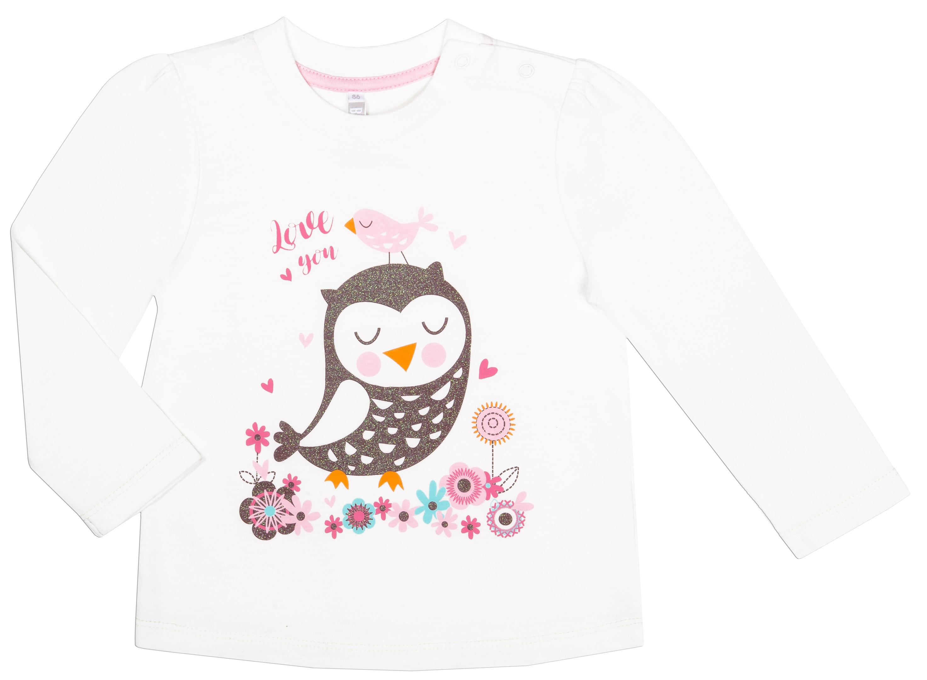 """Футболки Barkito Футболка с длинным рукавом для девочки Barkito """"Сказочный лес 2"""", молочная футболка с длинным рукавом для девочки barkito сказочный лес 1 розовая"""