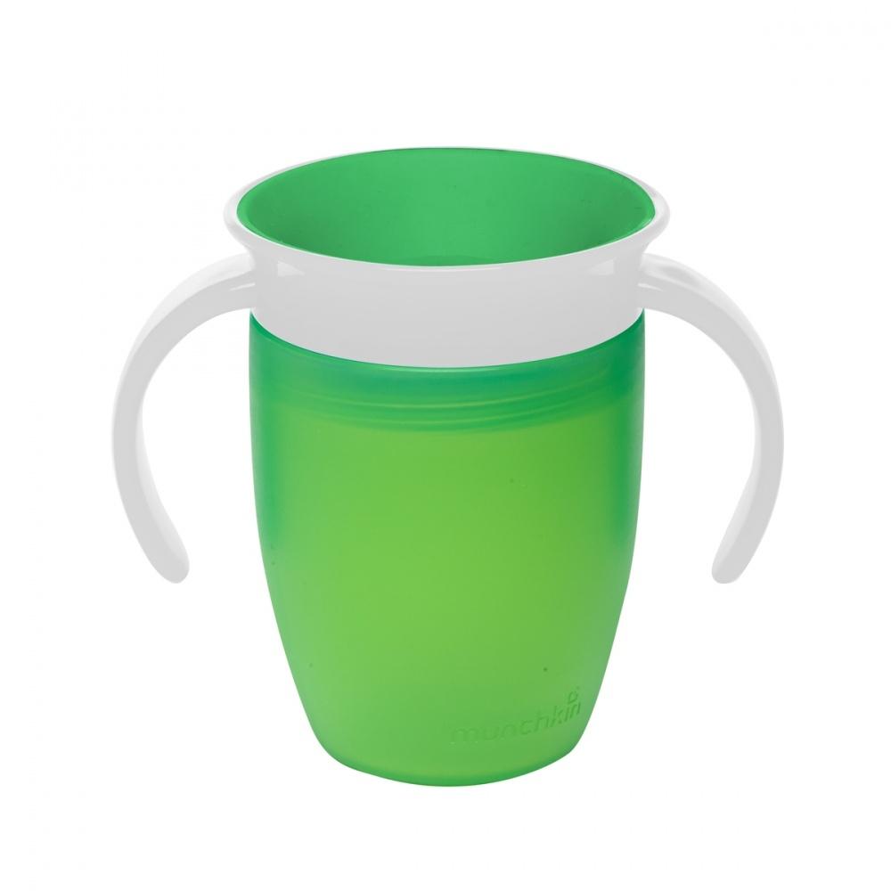 Чашки и поильники Munchkin «360» с ручками с 6 мес. 207 мл зеленый munchkin поильник чашка с носиком с 6 мес 266 мл