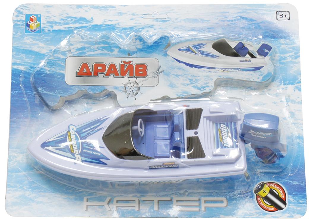 Катера и лодки 1toy Катер Драйв 32 см набор 1toy драйв цвет в ассортименте т10343