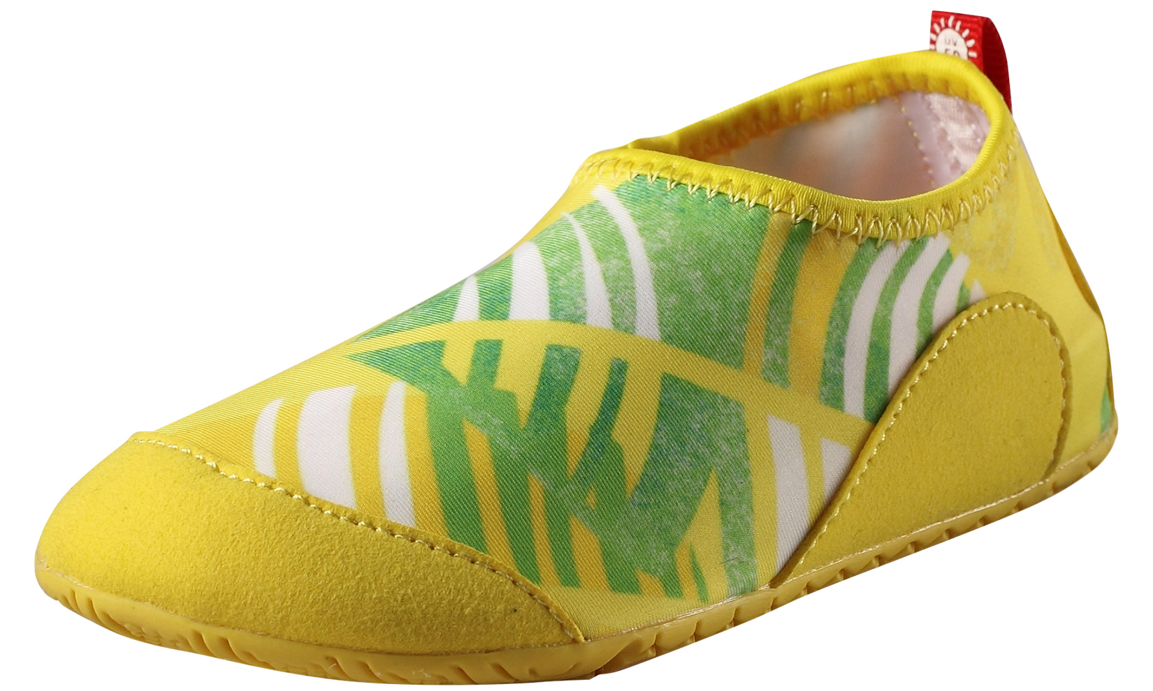 Сланцы (пляжная обувь) Reima Тапки детские Reima, желтые тапочки burlesco тапки