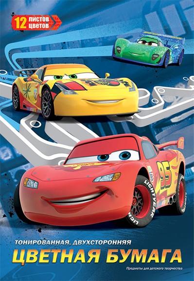 Цветная бумага Cars Cars 12 цветов ручки и карандаши cars cars 12 цветов