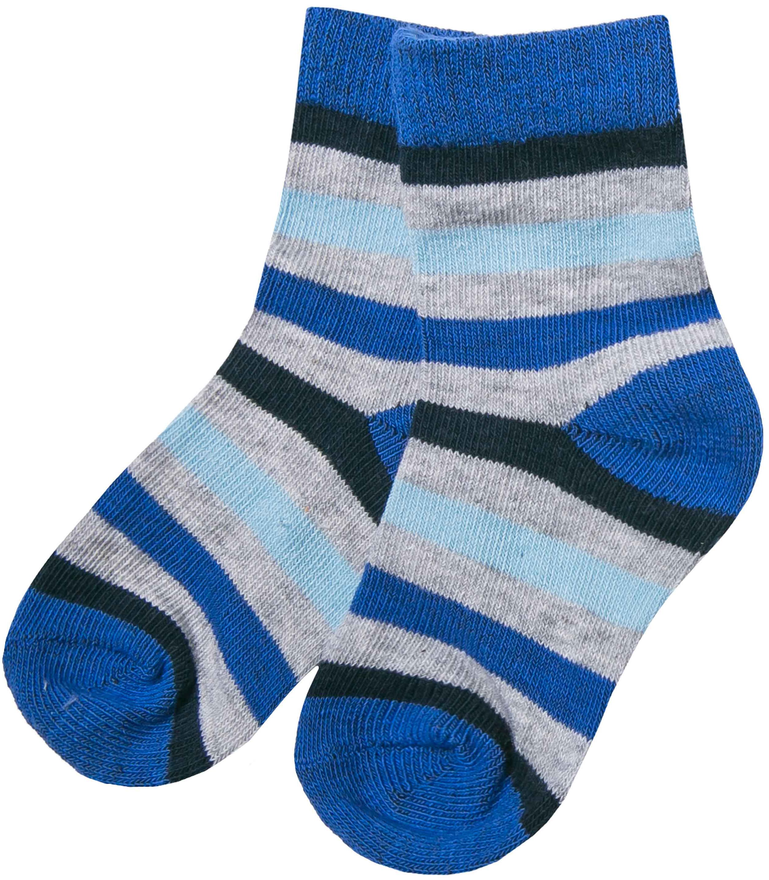 Купить Носки для мальчика, model, 1шт., Barkito W17B2002T(4), Китай, голубой с рисунком в полоску, Мужской