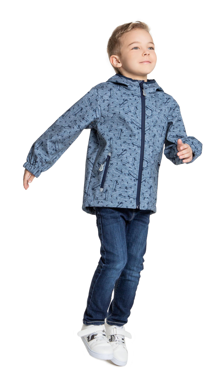 Куртки Barkito Серая с рисунком