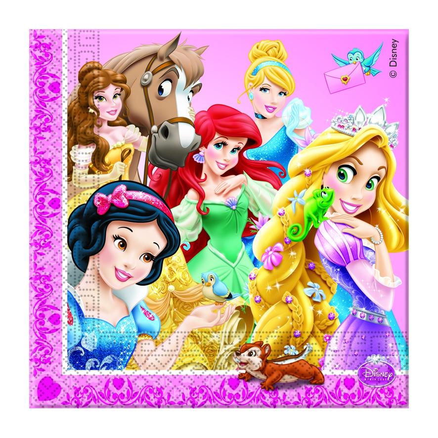 Салфетки Procos Принцессы и животные 20 шт. посуда и скатерти procos принцессы и животные