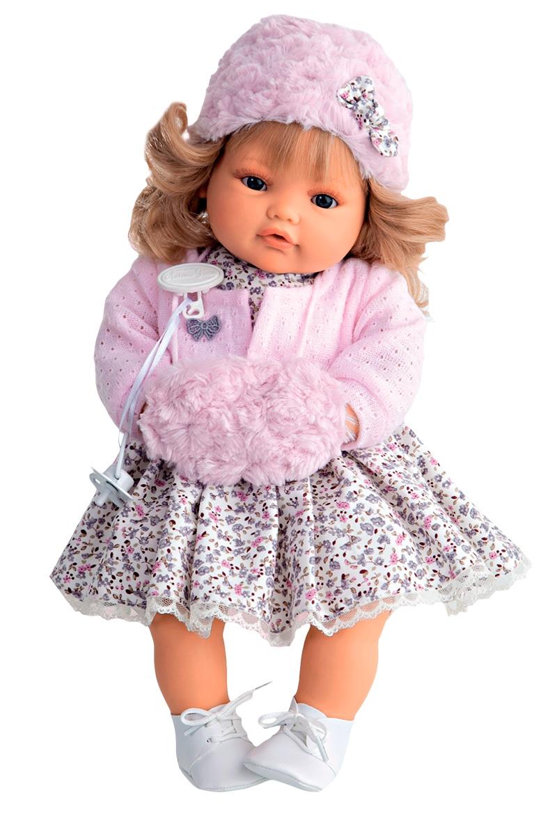 Кукла Munecas Antonio Juan Белла плачущая кукла munecas antonio juan соня в ярко розовом 37 см плачущая 1443v