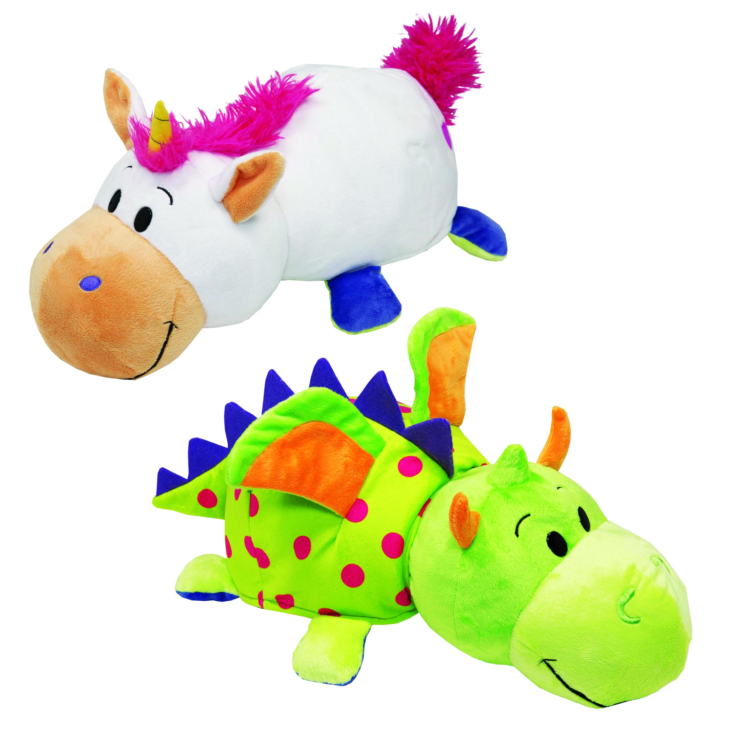 Мягкие игрушки 1toy Мягкая игрушка 1Toy «Вывернушка. Единорог-Дракон» 40 см игрушка 1toy robopets королевская кобра т11395