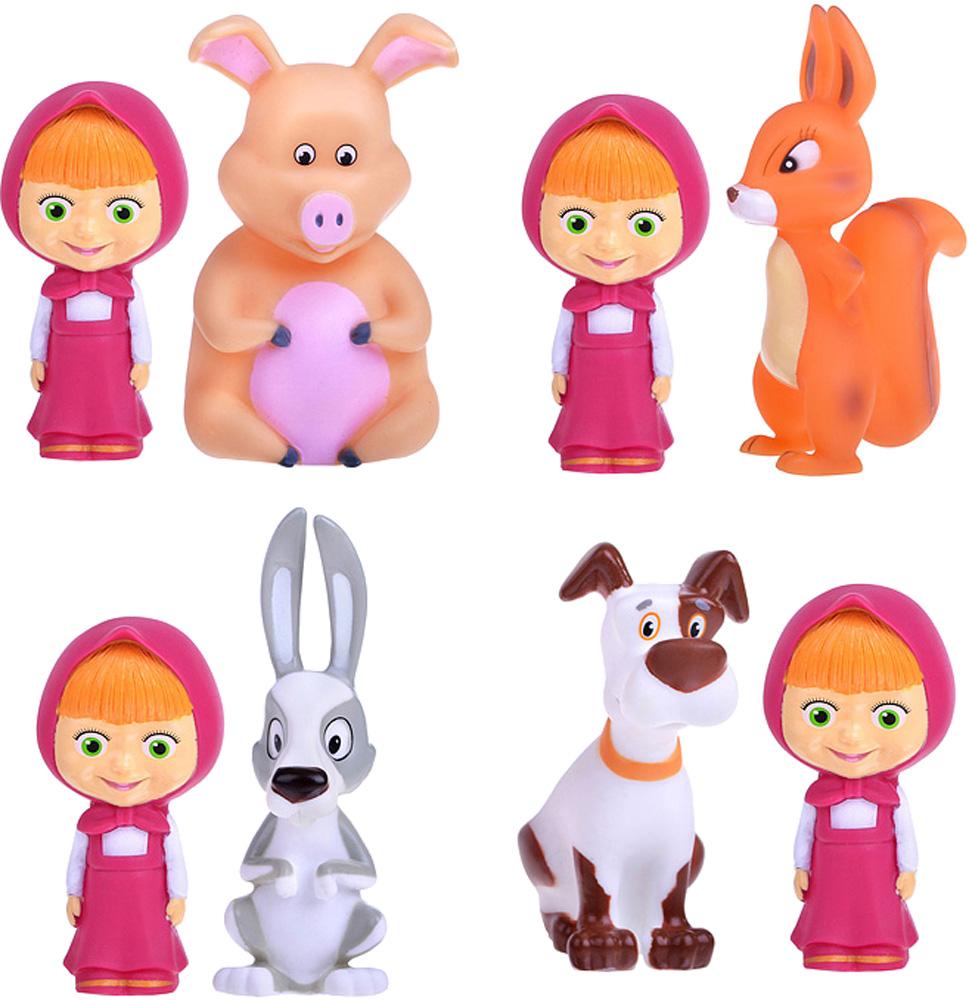 Игрушки для ванны Маша и Медведь Маша и медведь с животными брошь из кошачьего глаза и хрусталя маша