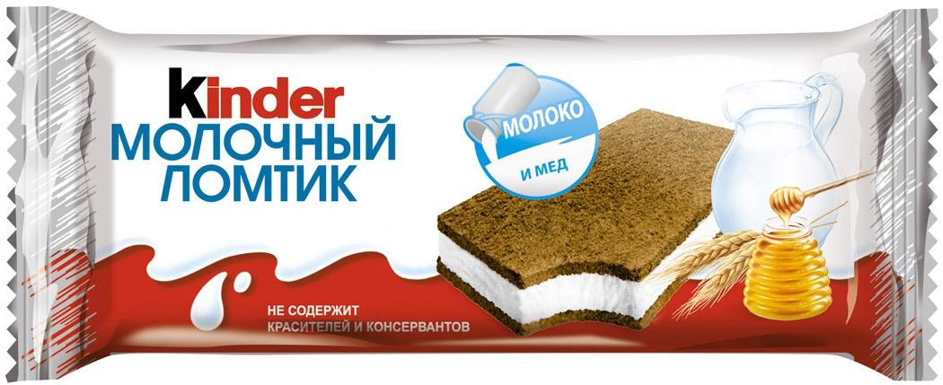 Десерты Kinder Kinder «Молочный ломтик» Молоко и мед 28 г киндер бисквитное пирожное молочный ломтик 27 9% 28 г