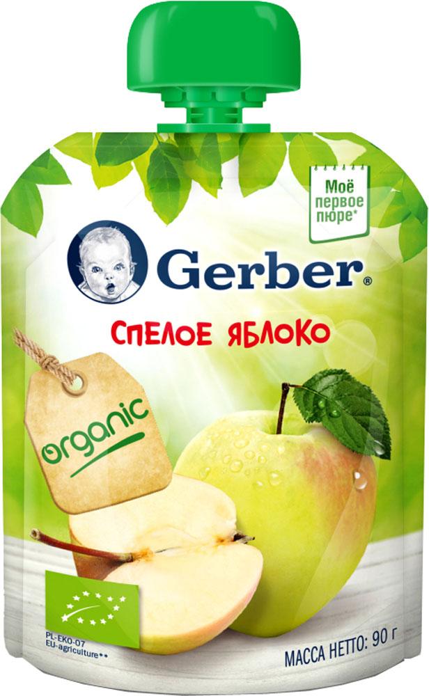 Фруктовое Gerber Пюре Gerber Спелое яблоко с 4 мес. 90 г гербер пюре индейка по домашнему с фенхелем с 9 мес 200г