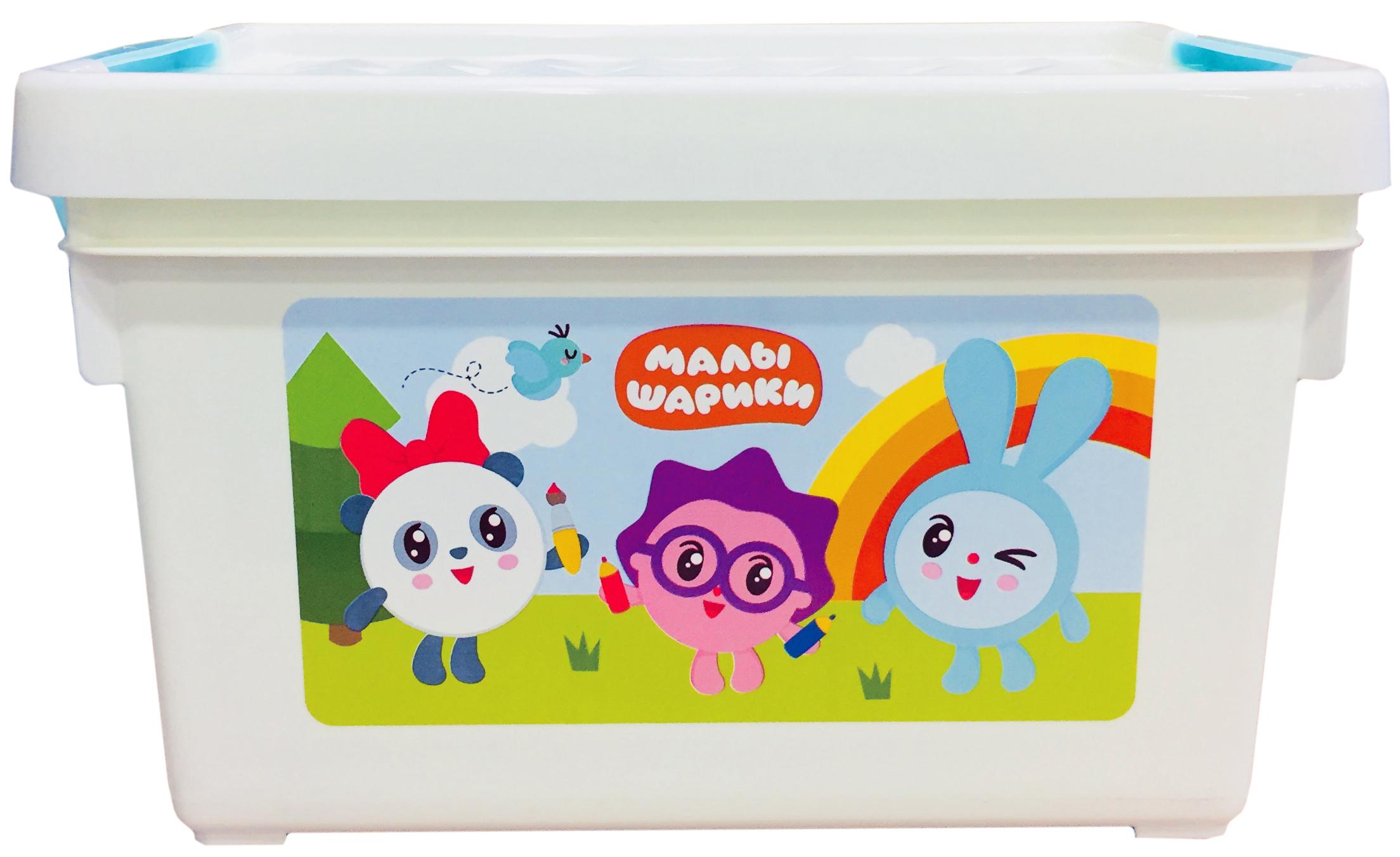 цена Принадлежности для хранения игрушек Little Angel Малышарики 5,1 л онлайн в 2017 году