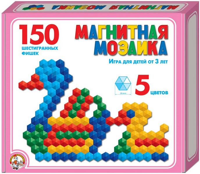 Мозаика магнитная шестигранная Десятое королевство 150 фишек / 5 цветов мозаика магнитная десятое королевство 150 деталей