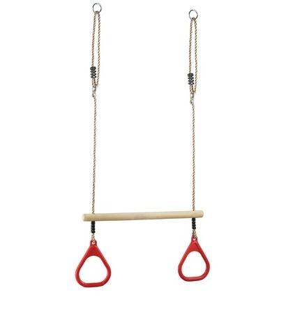 Купить Кольца гимнастические, PS-310 с трапецией, красные., 1шт., Perfetto sport СГ000002773, Китай, red