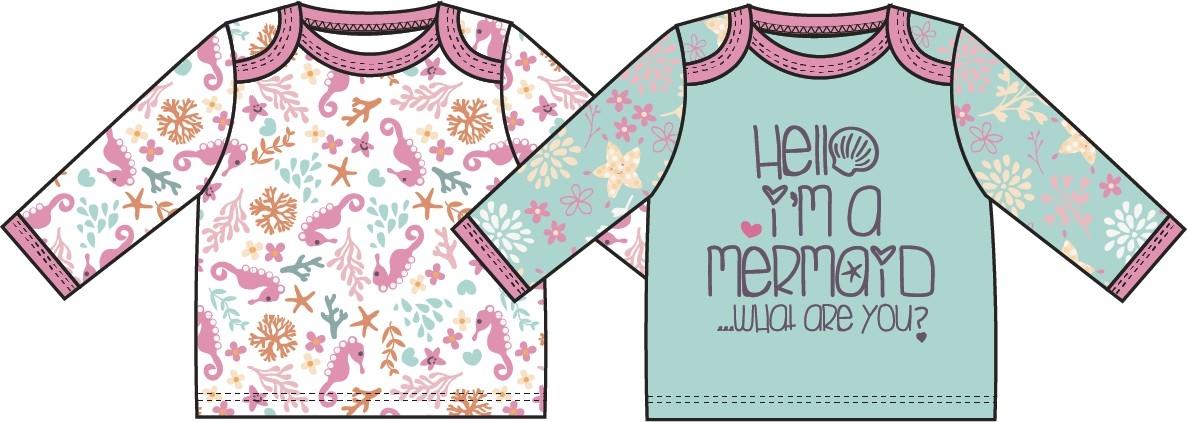 Купить Первые вещи новорожденного, Маленькая сирена, Barkito, Узбекистан, белый с рисунком, мятный, Женский