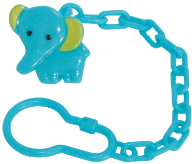 Контейнеры и держатели для пустышек LUBBY Слоник с цепочкой аксессуары для пустышек lubby клипса для пустышки слоник