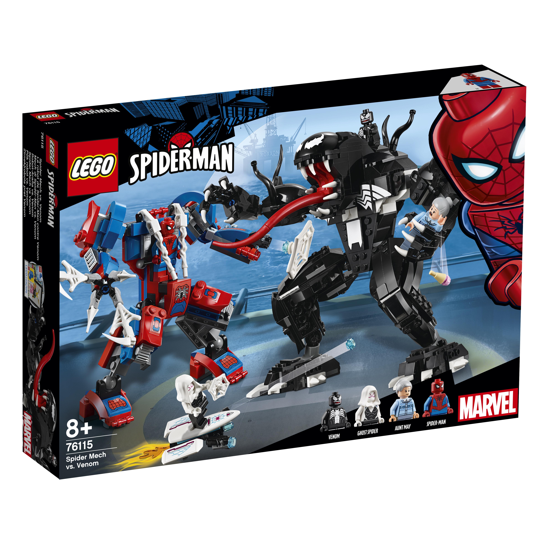 все цены на Конструктор LEGO Super Heroes 76115 Человек-паук против Венома