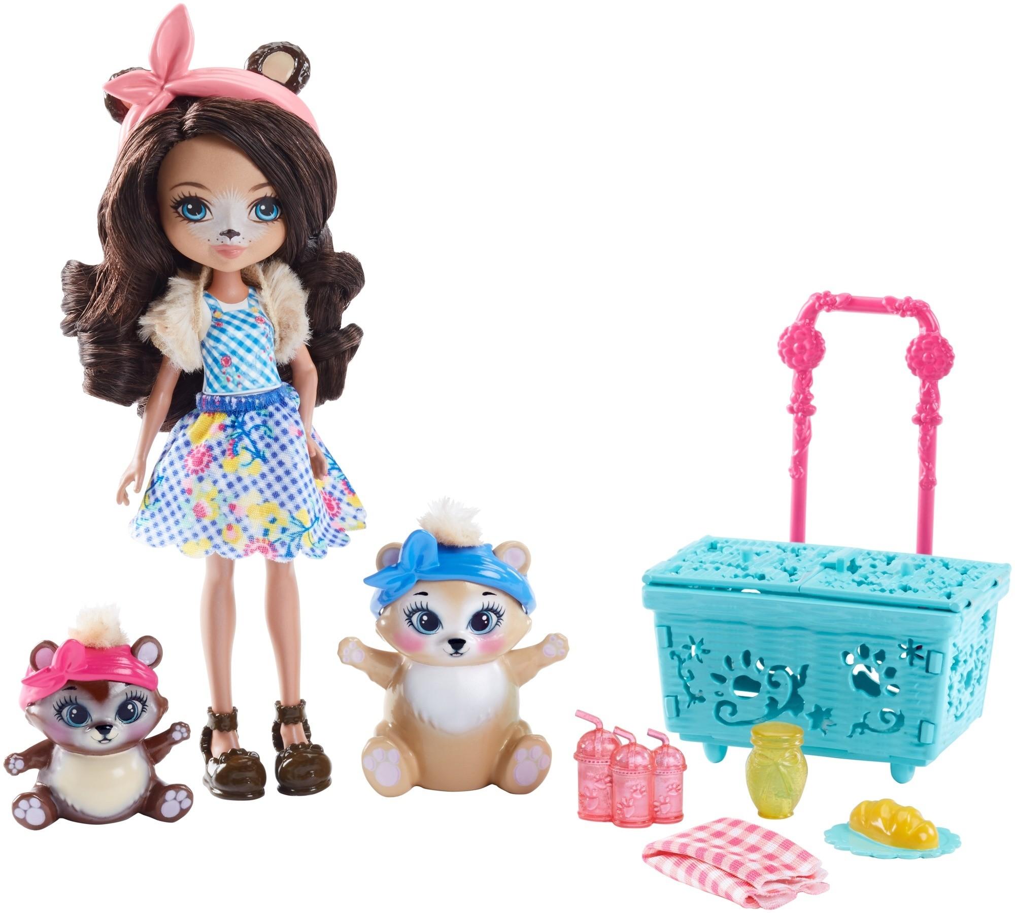 Купить Игровой набор, Кукла со зверюшкой и аксессуарами, 1шт., Enchantimals FCC62, Китай, Женский