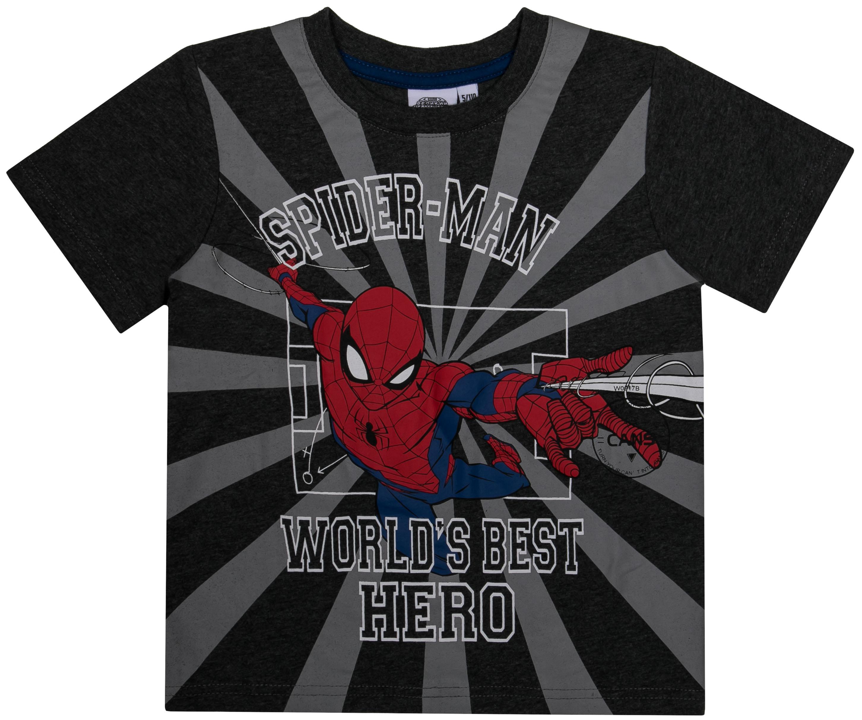 где купить Spider Man Barkito Футболка с коротким рукавом для мальчика Spider-man, графитовая по лучшей цене