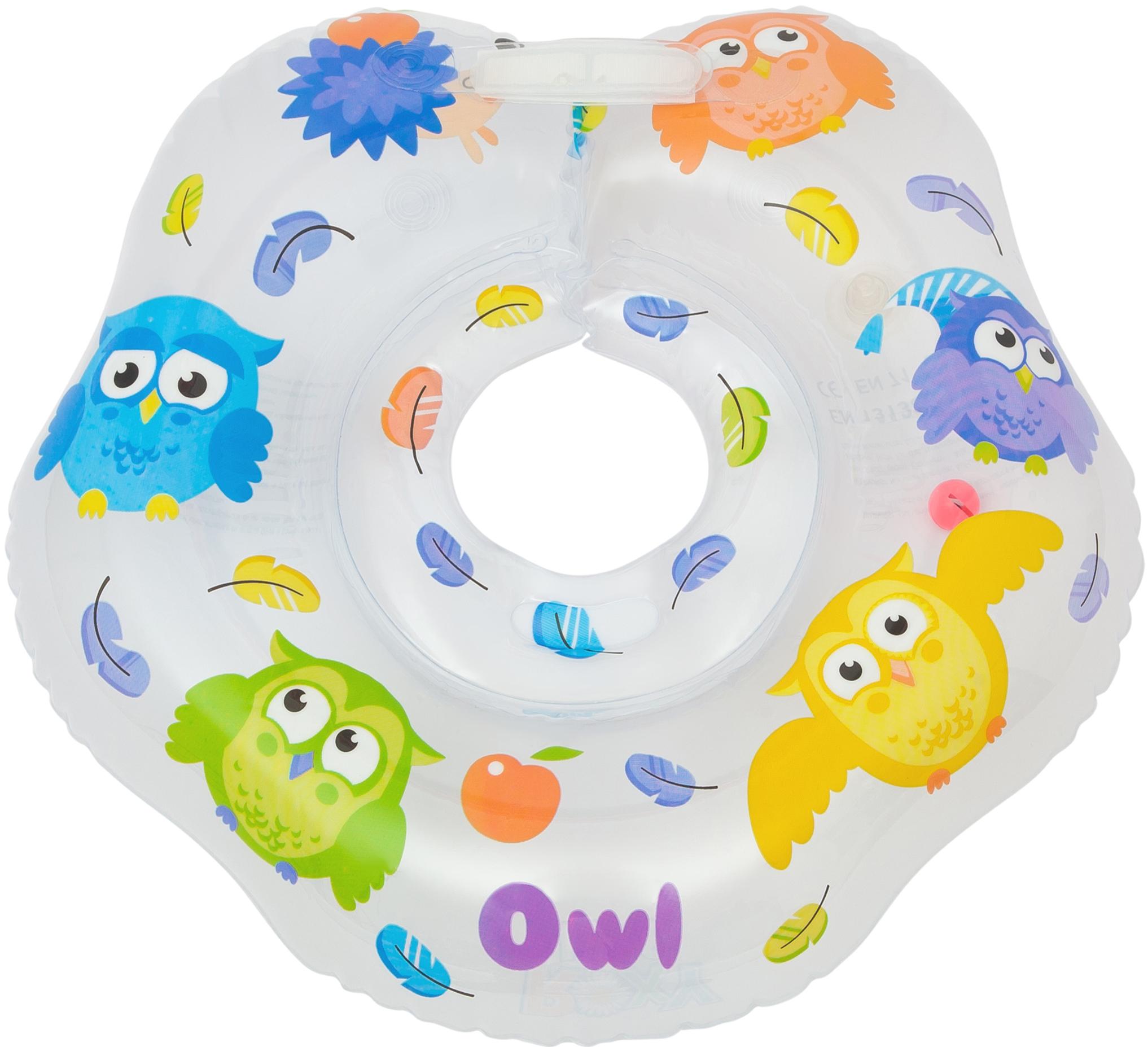 Круг для купания на шею Roxy-kids Owl RN-002 roxy kids круг на шею flipper fl001 для купания малышей 0 roxy kids