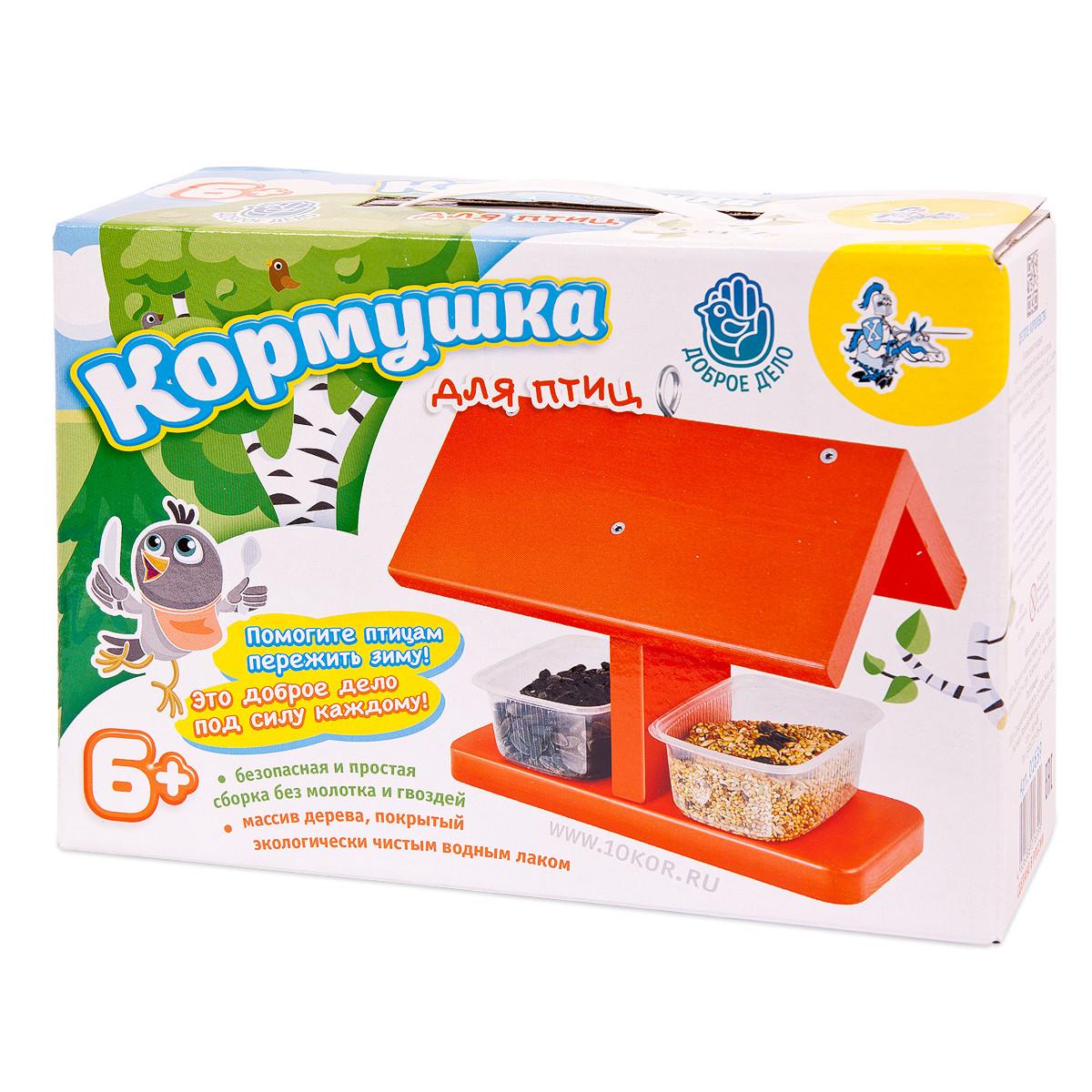 Купить Деревянные игрушки, Кормушка своими руками, цвет красный, Десятое королевство, Россия, red