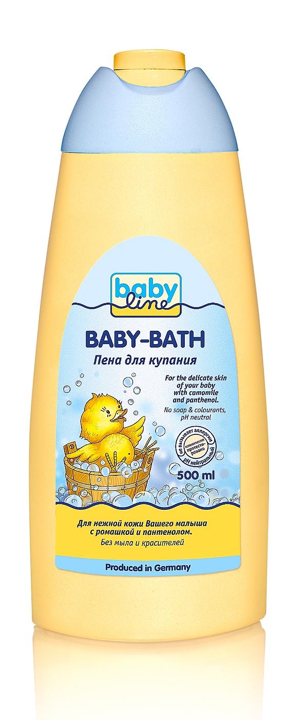 Гели и пенки BABYLINE Пена для купания Babyline 500 мл пена для ванны babyline 500 мл