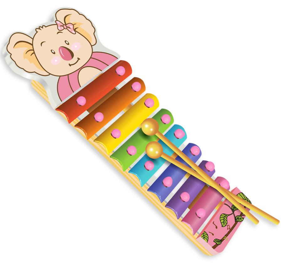 Купить Деревянная игрушка, Металлофон, 1шт., Фабрика Фантазий 42296, Китай, мултиколор