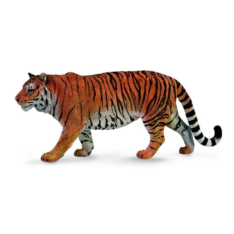 Купить Фигурки животных, Сибирский тигр 16 см, Collecta, Китай, рыжий с черным