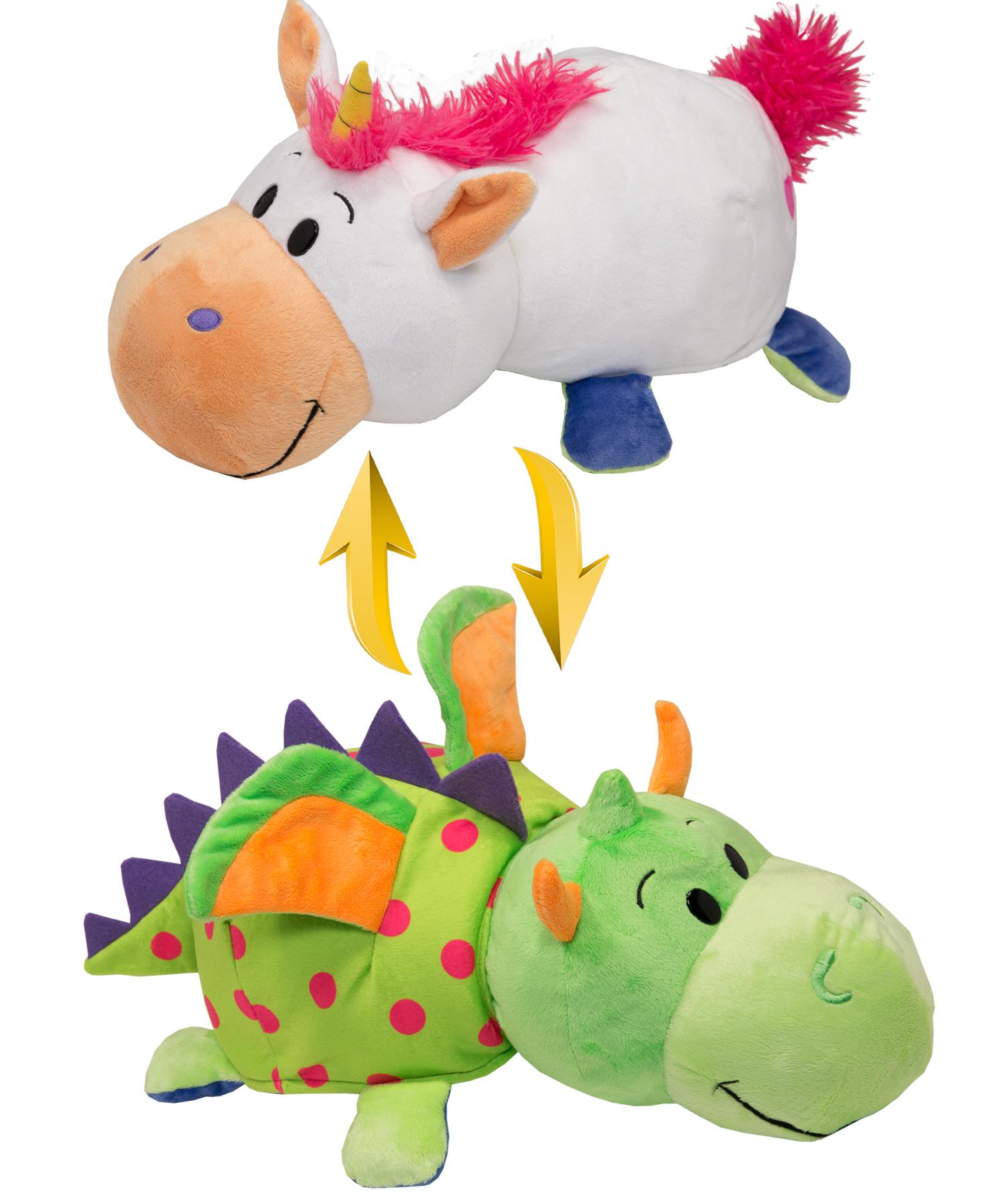 Мягкие игрушки 1toy Вывернушка. Единорог-Дракон мягкие игрушки trudi лайка маркус 34 см