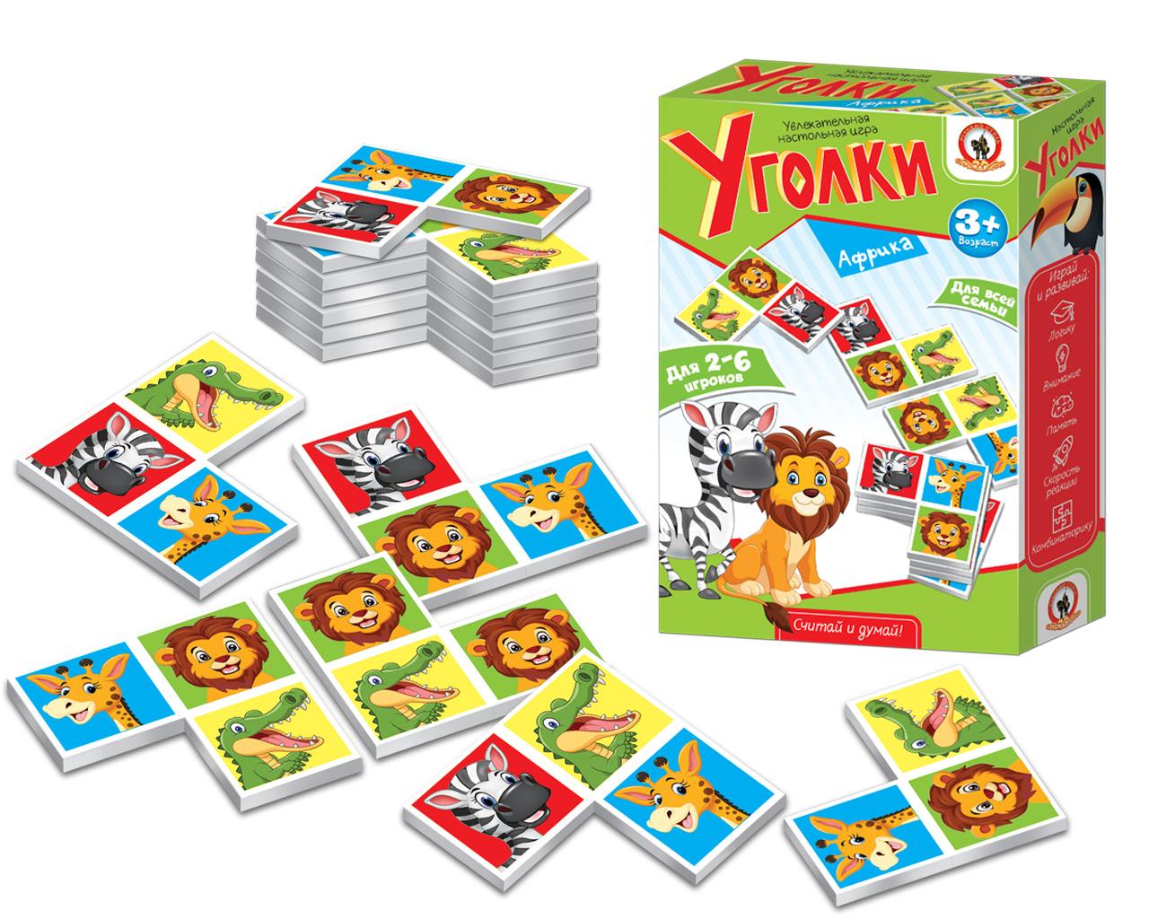 Развивающие и обучающие Русский стиль Настольная игра Русский стиль «Уголк. Африка» настольная игра русский стиль маугли 03814