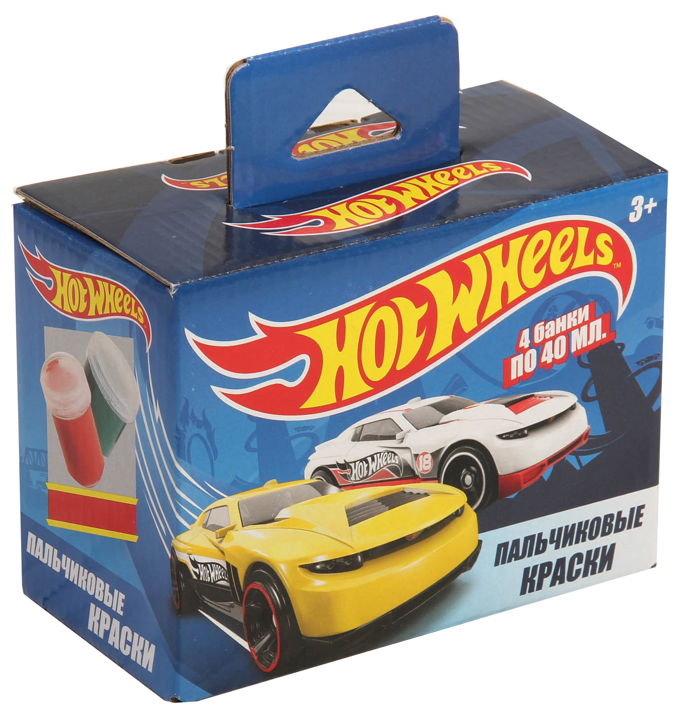 Hot Wheels Centrum Краски пальчиковые Hot Wheels 4 цв. hot 44131
