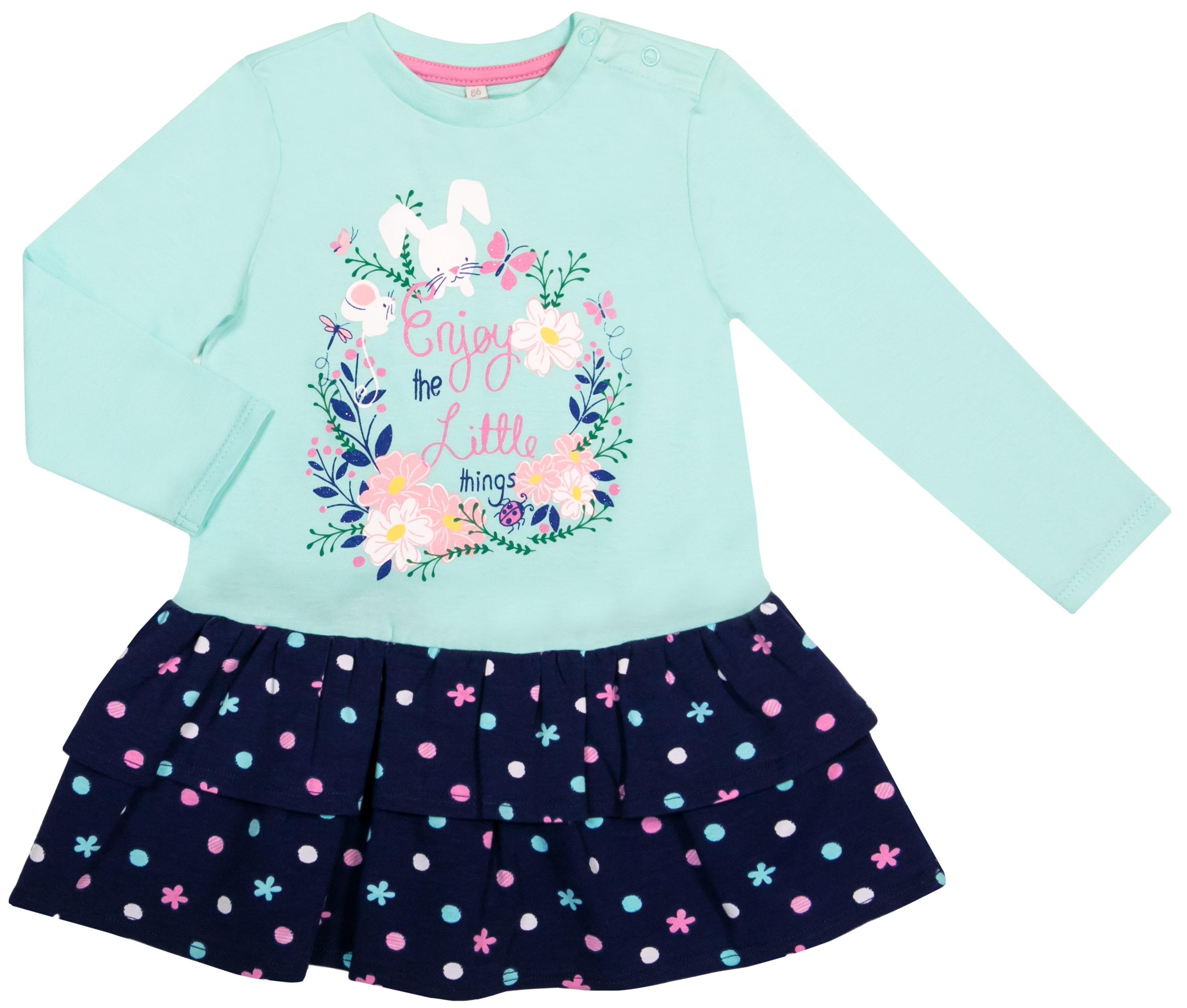 Платье детское Barkito Нежность S18G1005J толстовки barkito дикие звери 2 серый с синей отделкой