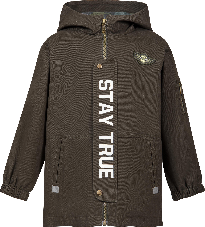 Куртки Barkito «Парка» для мальчика Barkito, хаки парка с принтом и капюшоном 3 12 лет