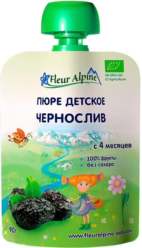 Пюре Fleur Alpine Fleur Alpine Чернослив (с 4 месяцев) 90 г пюре fleur alpine fleur alpine organic яблоко и черника с 5 мес 90г пауч
