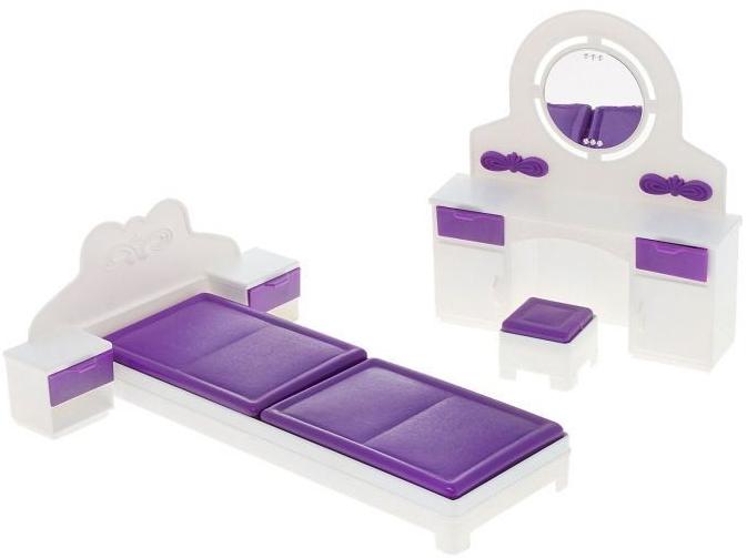 Мебель для кукол Огонек Игрушечная спальня Конфетти игрушечная столовая для кукол огонек конфетти
