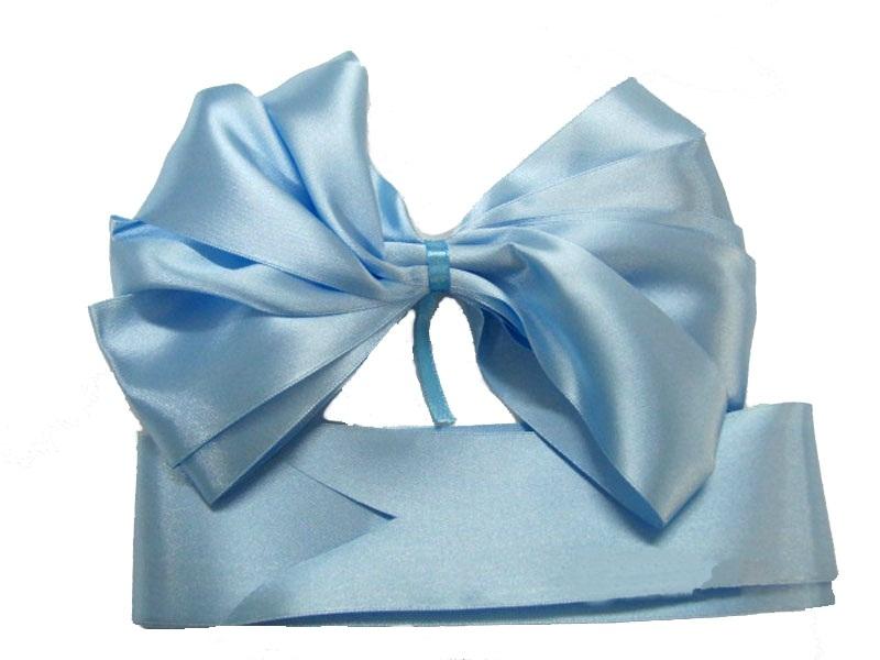 Комплект из атласных лент на выписку Арго 0100/ЛГ голубые