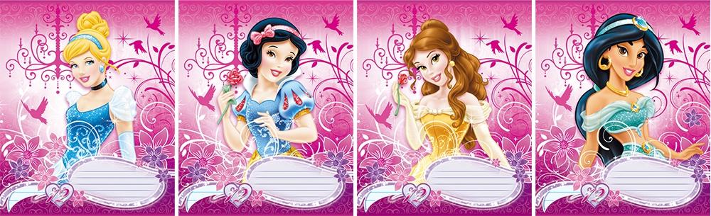 тетрадь в линию Princess Princess Disney 12 л. наушники disney princess